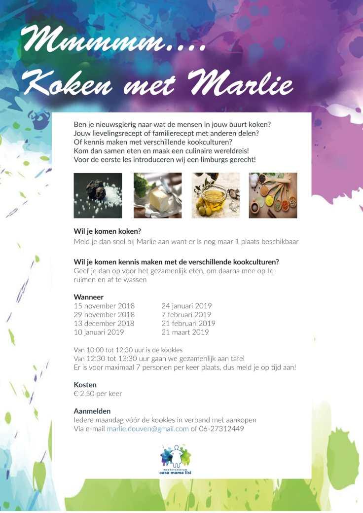Flyer Koken met Marlie - 20181109-1